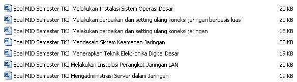 Asiik !!! Kumpulan Soal MID Semester TKJ Lengkap 2015, Cek Disini !!!