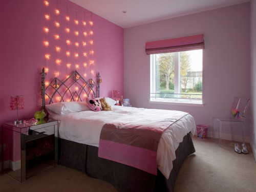 Pink Cute Decoration Girls Room Design, Bedroom Decoration ...