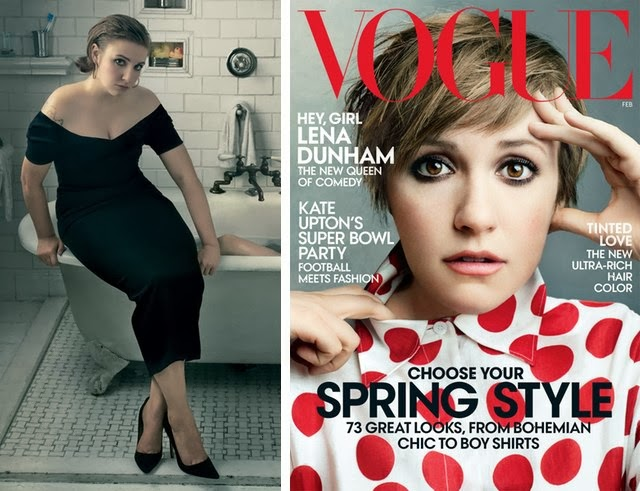 Lena Dunham, Vogue, Photoshop, Jezebel