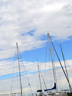 cloudy masts