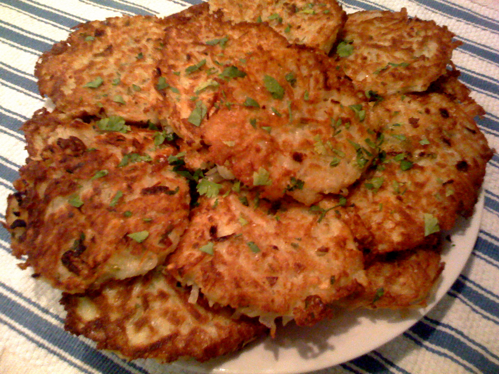 pancakes mini potato pancakes with green garlic and chives potato ...