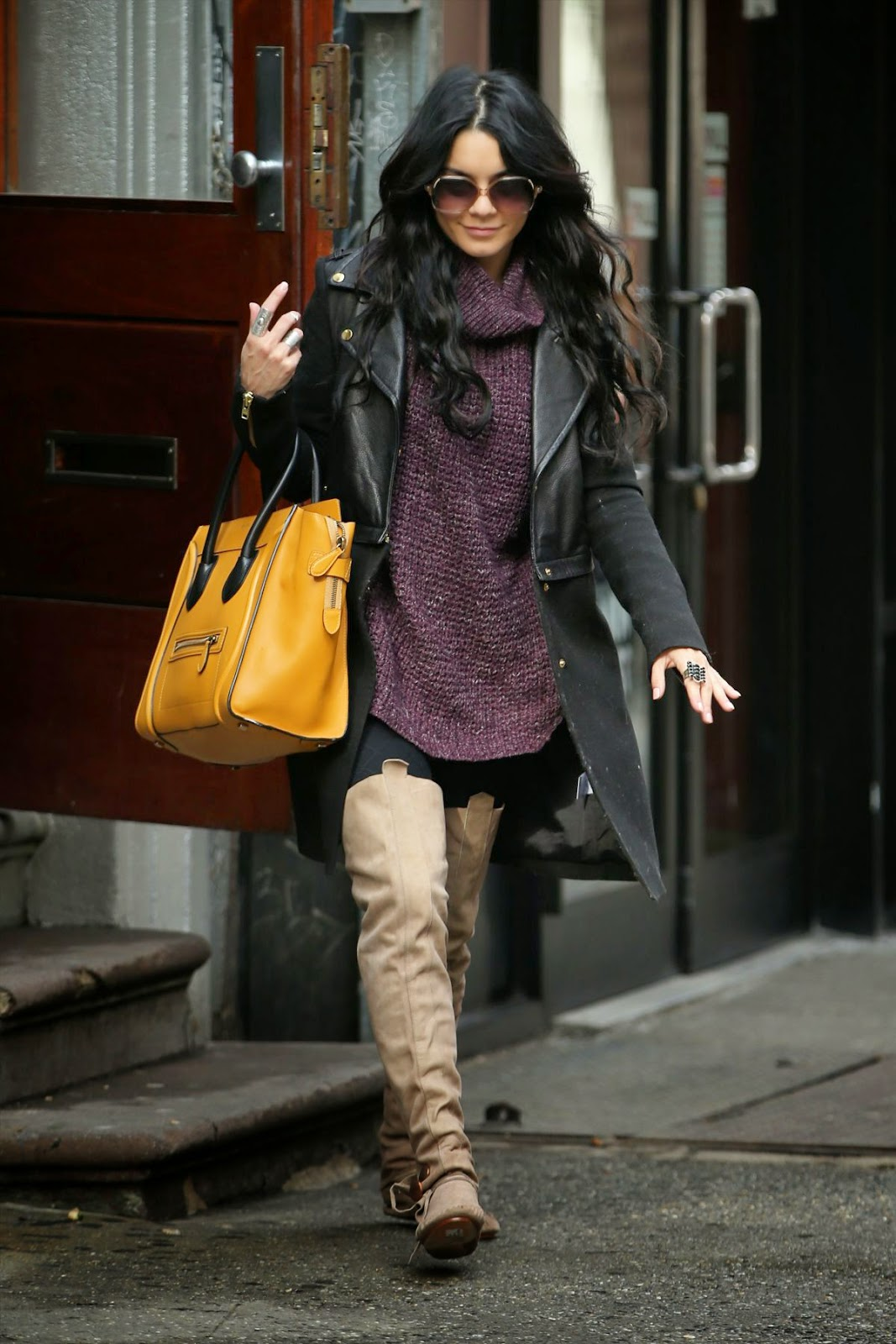 Actress, Singer @ Vanessa Hudgens Out And About In New York