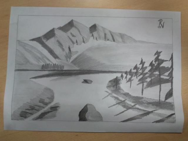 My first pencil sketch