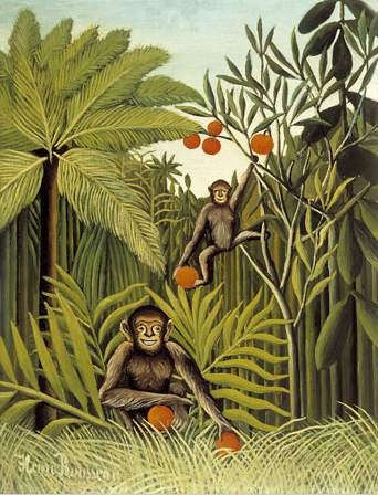 henri rousseau monkeys jungle