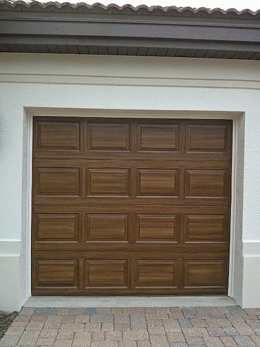 Everything i create paint garage doors to look like wood for Garage doors look like wood