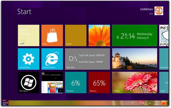 Windows 8 Skin Pack 11 for Windows 7