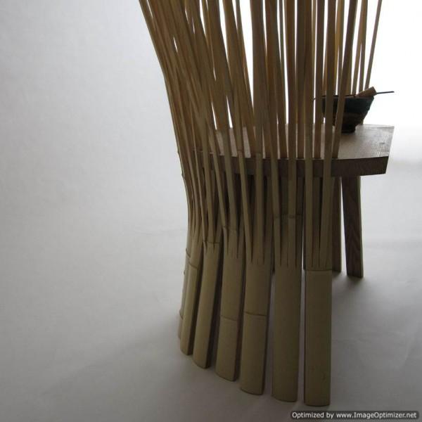 Unique bamboo chair of origin japan furniture design idea