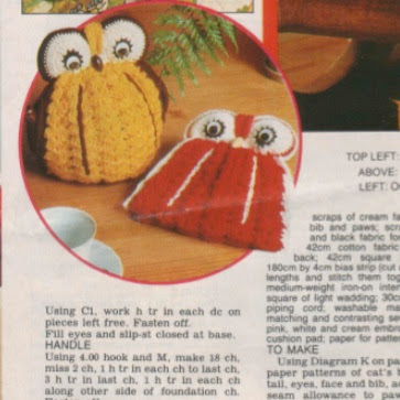 Knitting Pattern For An Owl Tea Cosy : Owl Tea Cosy