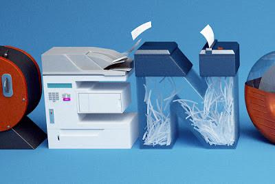 benoit challand type with office equipment
