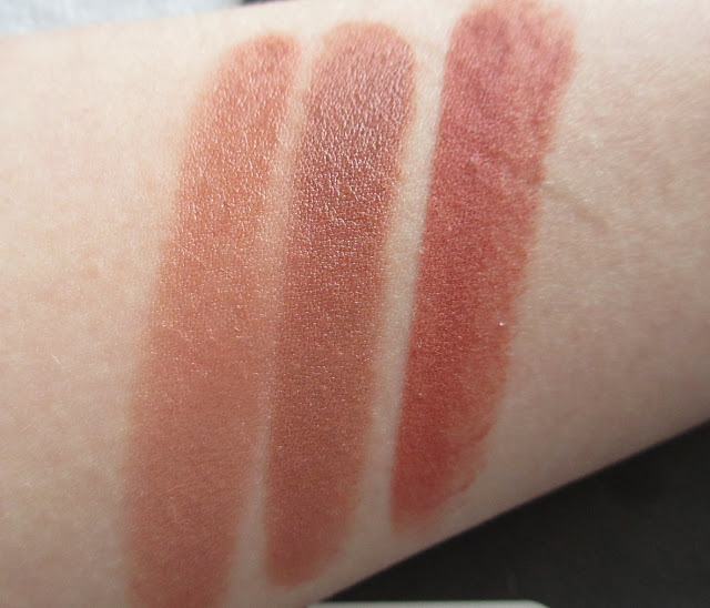 Too Faced Naughty Nude, MAC Half n Half, City Color Cappuccino Comparison