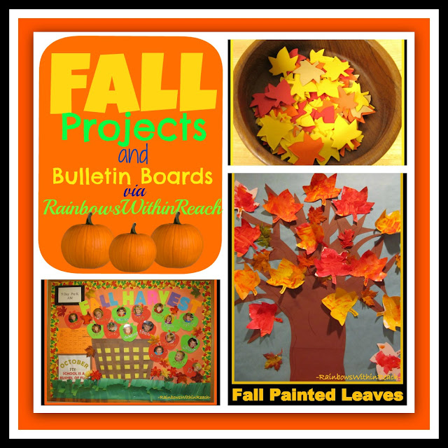 photo of: Leaf Projects and Bulletin Boards for Fall (via RainbowsWithinReach)