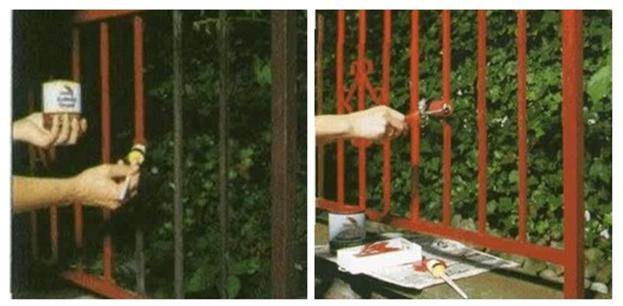 Обезжиривание и грунтовка металлических решеток балкона
