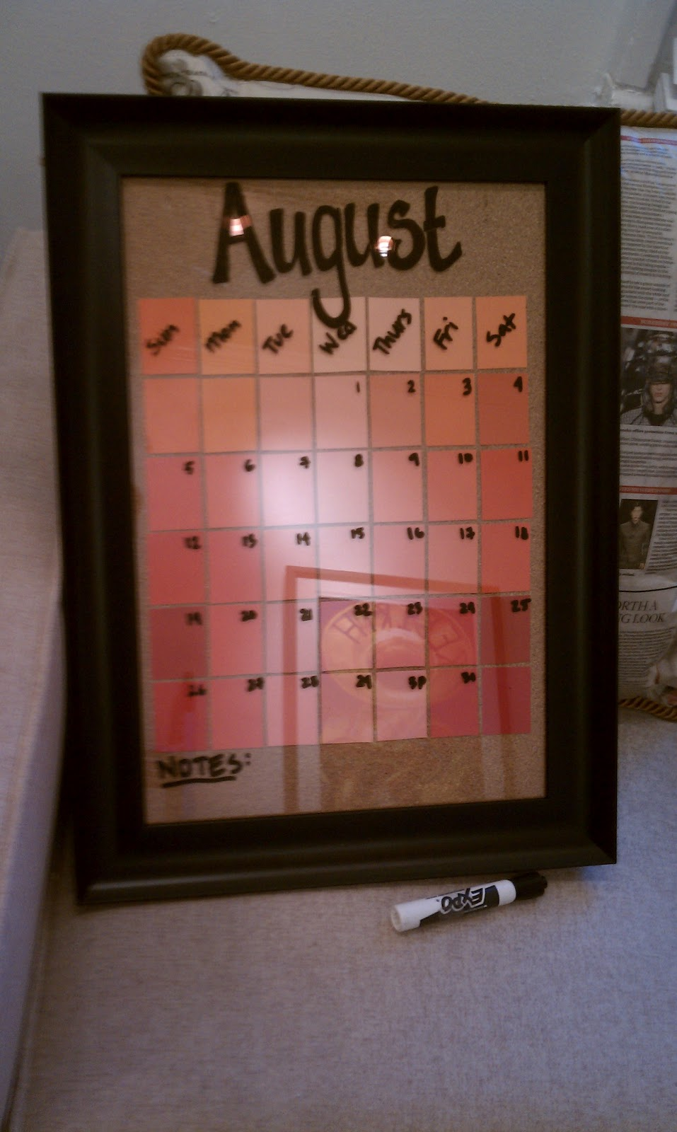 Diy Calendar Frame : Chet pourciau design diy calendar from an old picture