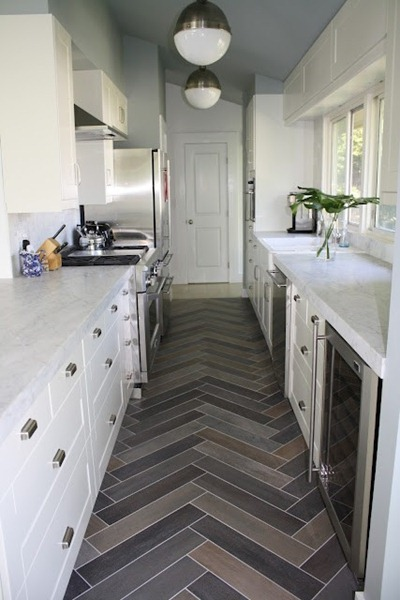 Full catalog of vinyl flooring options for kitchen and for Kitchen flooring options uk