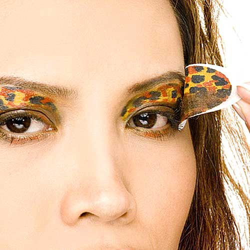 sombras ojos sticker animal print carnaval