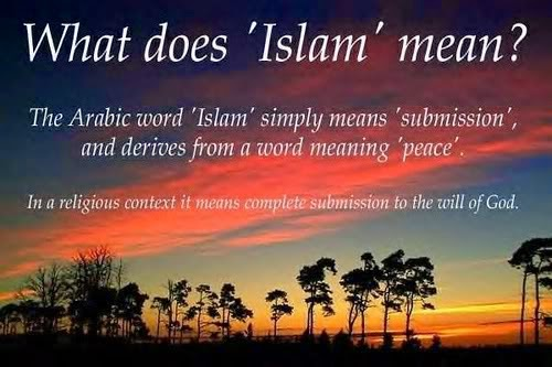What does the name Islam mean 60