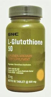 GNC USA L-Glutathione (Tablet Pemutih Kulit)