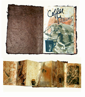 Book Art : Coffee Stains by Martha Hayden