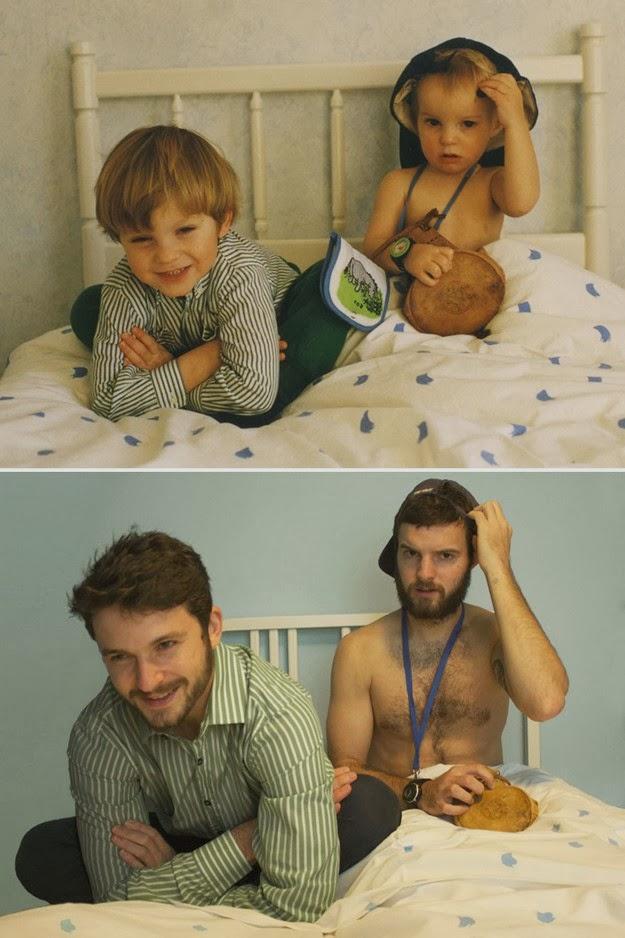 childhood photos recreated1