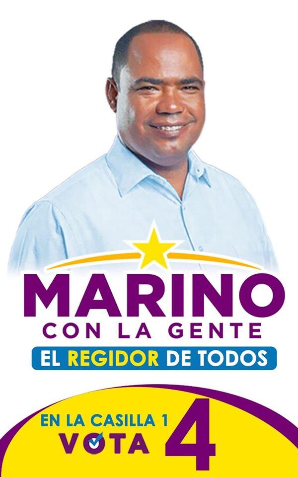 MARINO CON LA GENTE, candidato a regidor PLD/PRD y aliados, Santa Cruz de Barahona