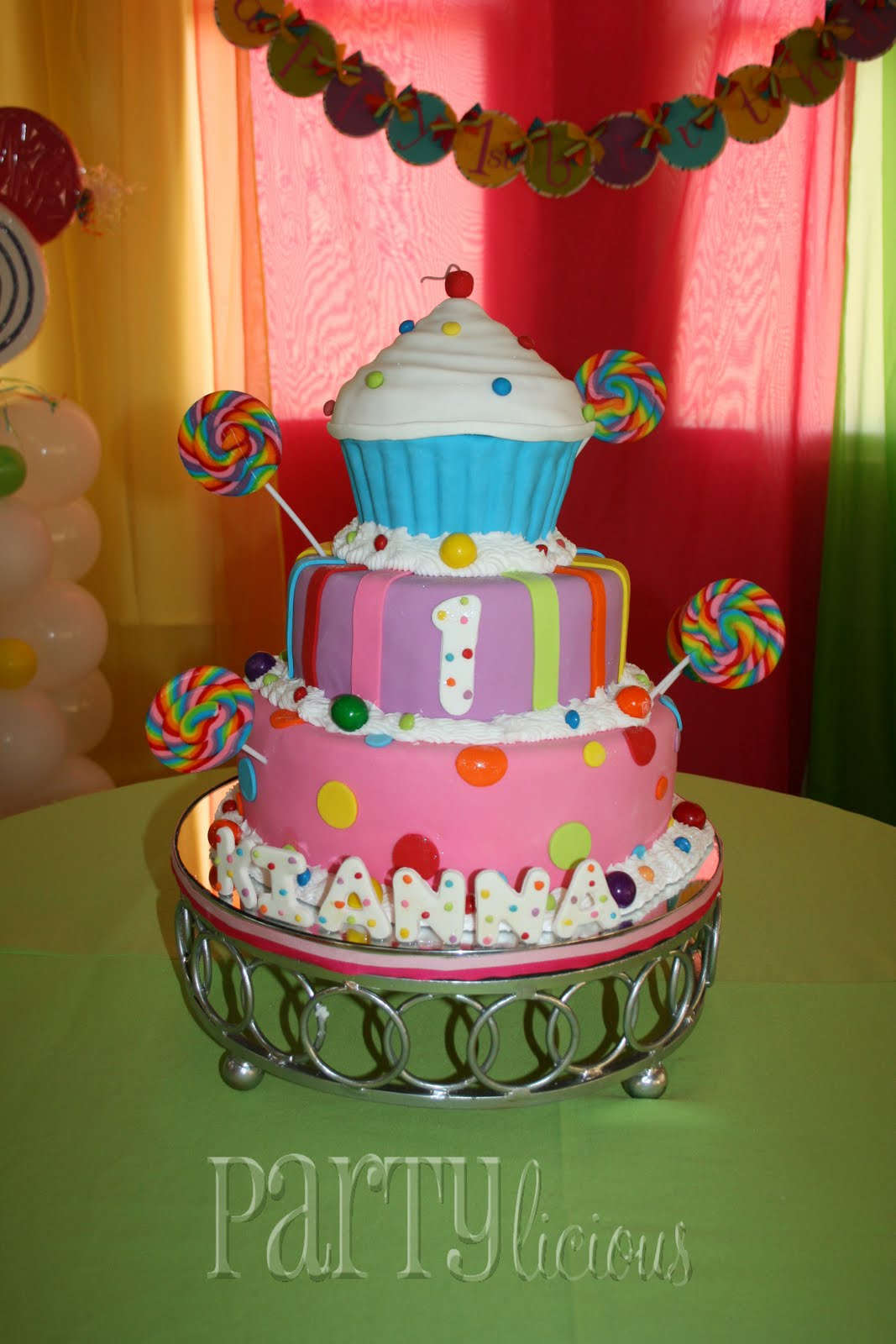 Partylicious Events Pr Sweet 1st Birthday Candy Cupcakes