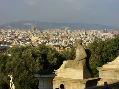 Barcelona from the National Palace of Catalonia in Montjuïc