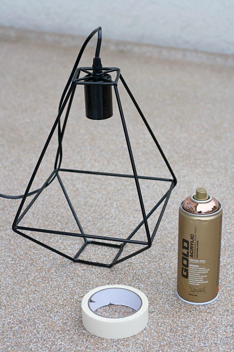 Mmi, Mittwochs mag ich, DIY, Lampe, Xenos, Interior, Einrichtung, Designerlampe, Design, Kupfer