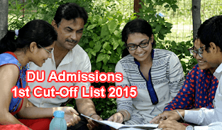 DU 1st Cut Off List 2015 will be declare today, DU First Cut Off List 2015, Delhi University Cut Off All Colleges, Second Cut Off List of DU 2015, DU Cut Off List, First Cut Off List of DU 2015, Delhi University Cut Off List 2015 For BA BCom BSc Honours, DU 1st Cutoff List 2015 Available at www.du.ac.in, DU Admissions 2015 Cut Off List