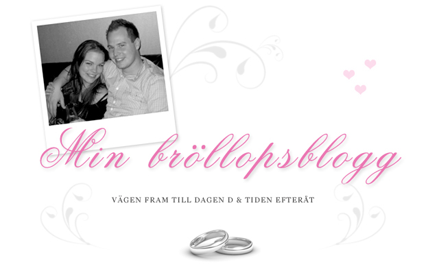 Min bröllopsblogg