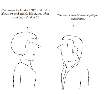 cartoon, aids, hhv-6, cfs, chronic fatigue syndrome, cdc, nih, fauci