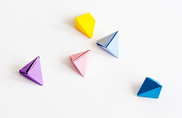 origami pyramids