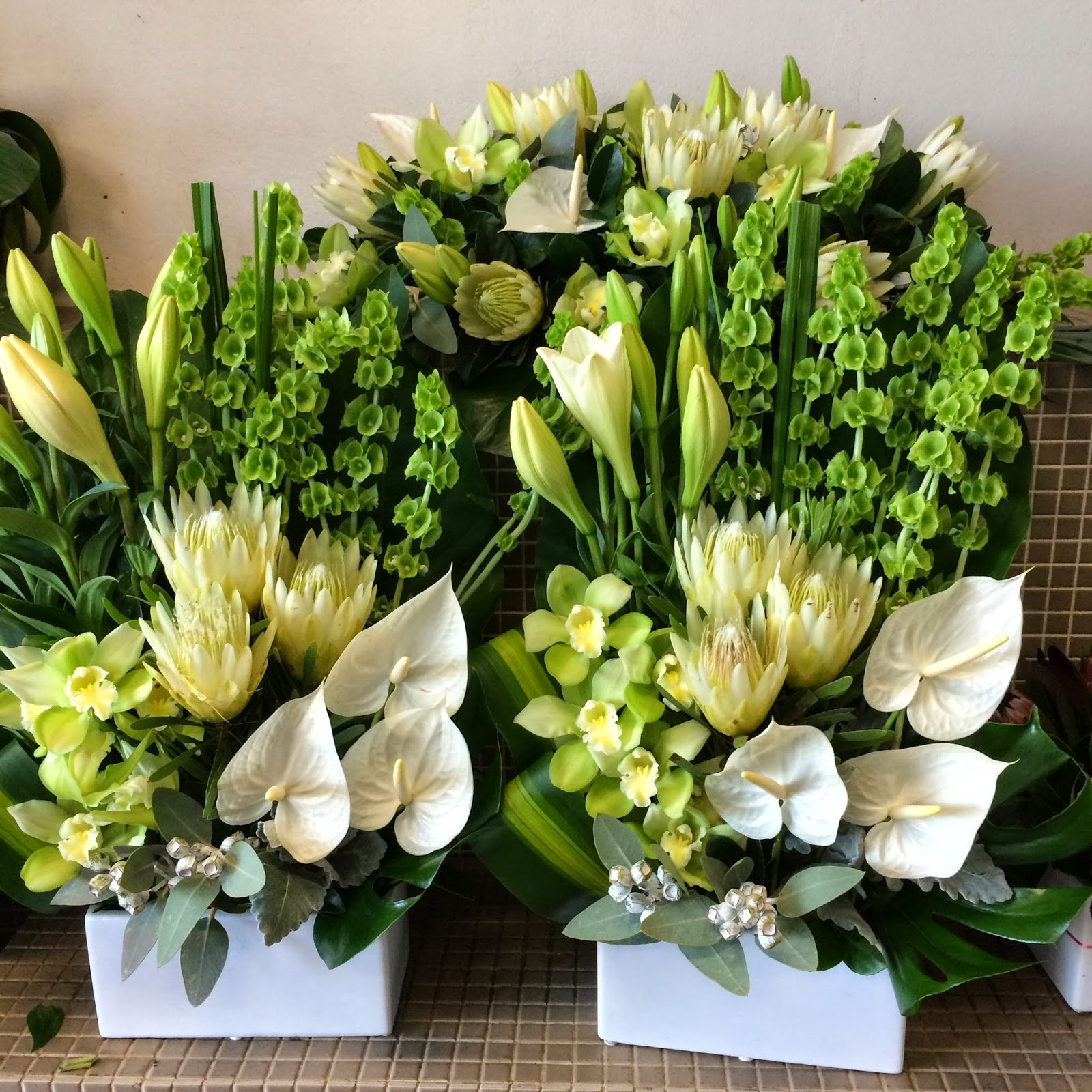 Urban Flower Lime And White Flowers For Church Event In Baulkham Hills