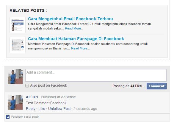 Contoh komentar facebook diblog