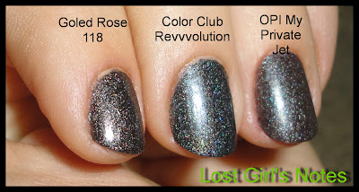 black holographic nail polish comparison