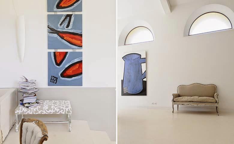 arte contemporáneo en las paredes