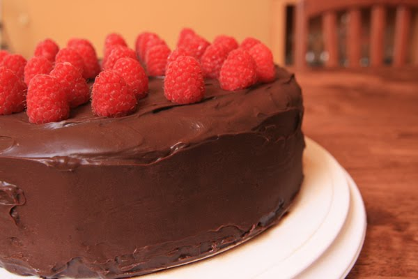 National Kitchen Recipes: Deep Chocolate Raspberry Cake