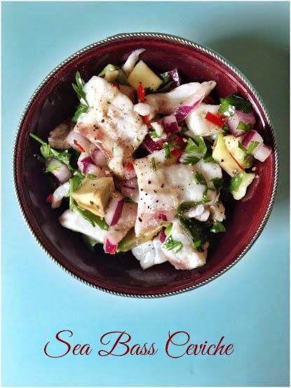 The Cafe Cat's easy recipe for a Sea Bass Ceviche