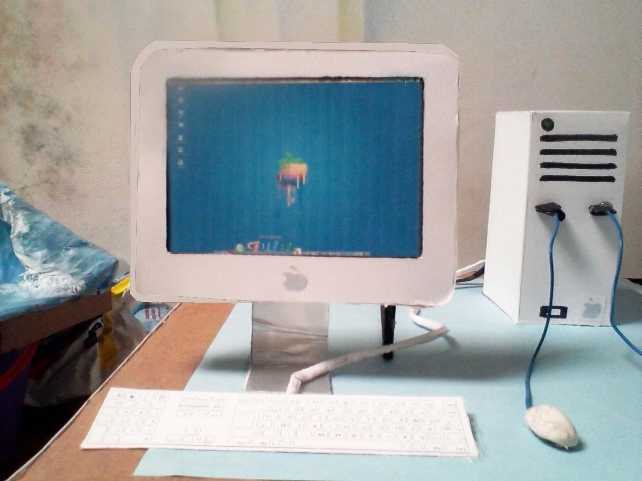 Como hacer maquetas computadora de papel y carton - Como hacer una mesa de ordenador ...