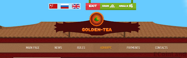 Make money for free playing Golden tea online game