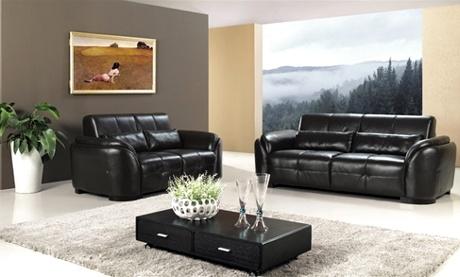 Decoraci n de interiores muebles de cuero para tu sala for Juego de sala en cuero