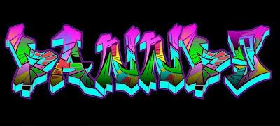 graffiti names art lesson