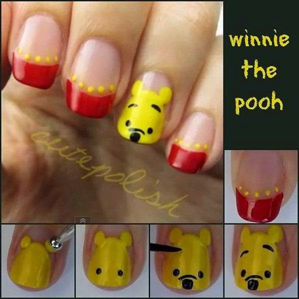 Adorable Winnie The Pooh Nails Get Easy Nail Art