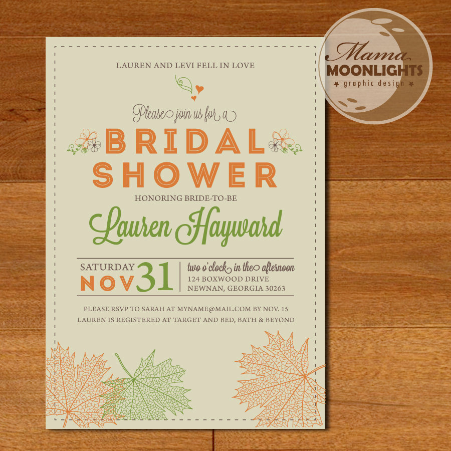 autumn wedding shower invitations autumn weddings pics