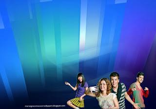 Fundo de tela dos Morangos com Açucar Logotipo da série juvenil em wallpaper Paisagem de Cristal