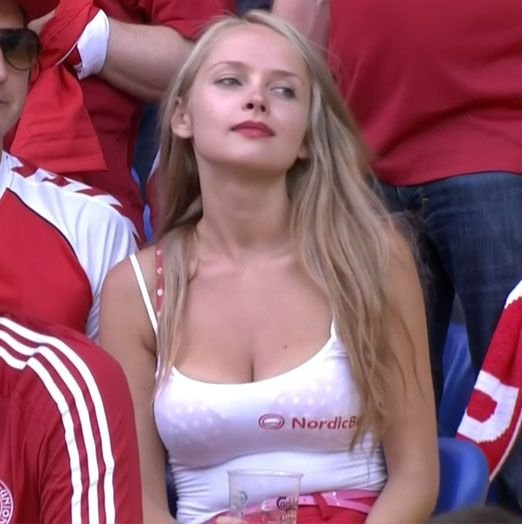 Sexy female sports fans
