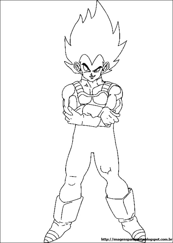 Desenhos Para Colorir dragon ball z vegeta e trunks