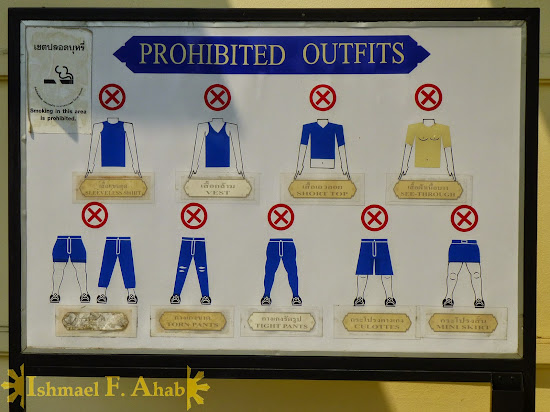 Prohibited clothing in Bangkok Grand Palace