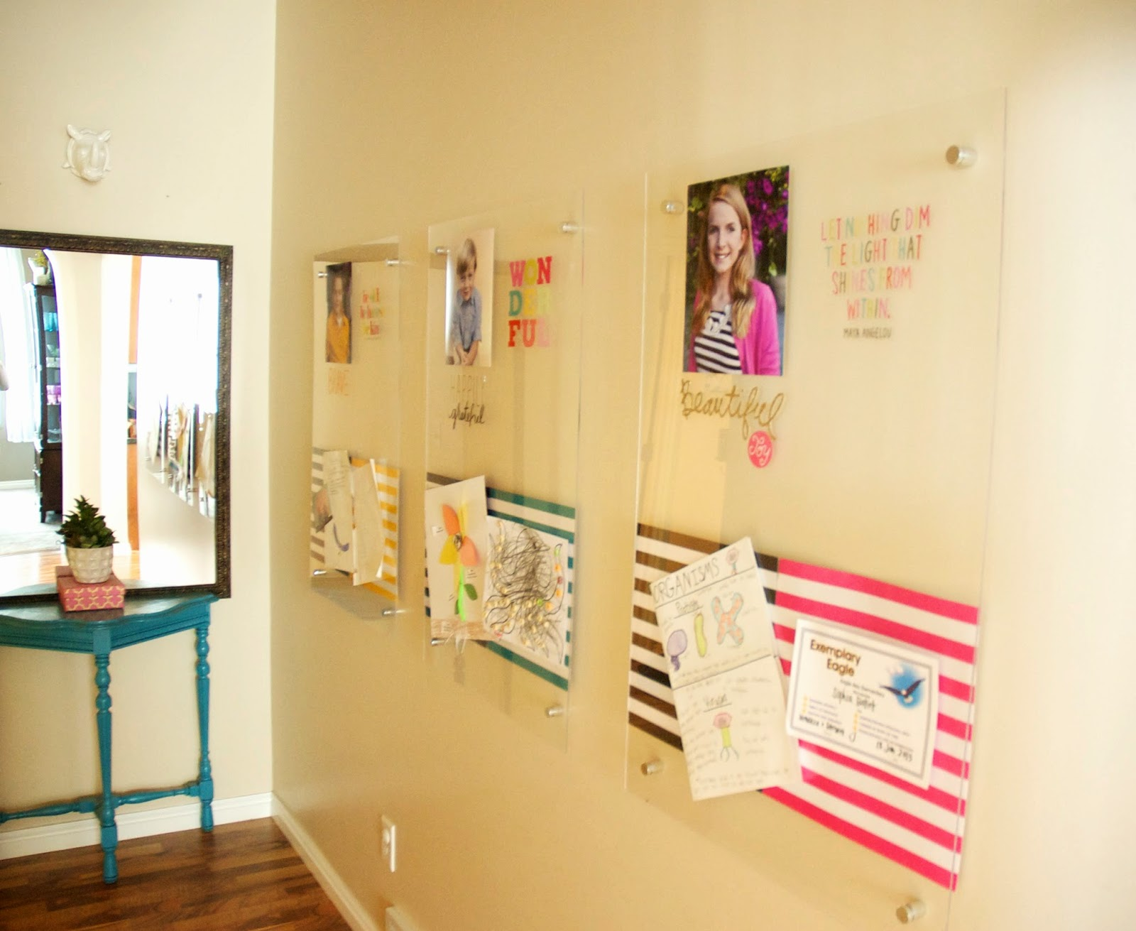 restlessrisa: Acrylic School Work Display DIY