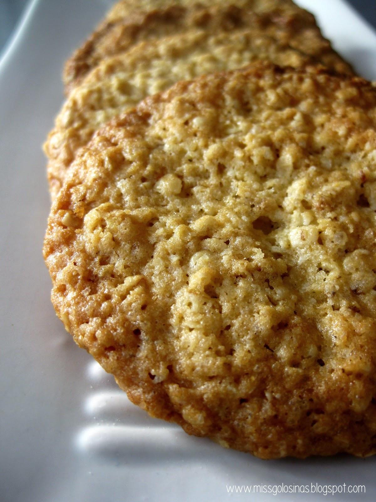 Oatmeal cookies, galletas de copos de avena