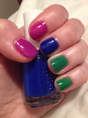 Essie, Essie Summer 2013 Neons Collection, neon nails, Essie DJ Play That Song, Essie Bouncer It's Me, Essie Shake Your $$ Maker, nail polish, nail varnish, nail lacquer, manicure, mani monday, #manimonday, nails